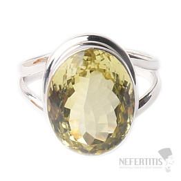 Topaz žlutý Lemon prsten stříbro Ag 925 R196