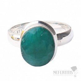 Smaragd indický prsten stříbro Ag 925 R1720