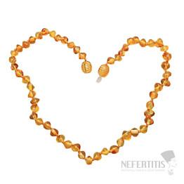 Jantarové korálky pro děti extra leštěné zlatý med 28 cm