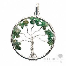 Achát mechový přívěsek Strom života