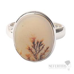 Achát dendritický prsten stříbro Ag 925 R723