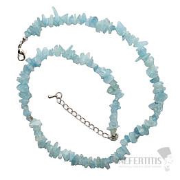 Akvamarín náhrdelník sekaný extra kvalita