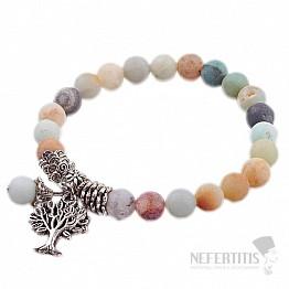 Amazonit náramek extra korálkový se stromem života