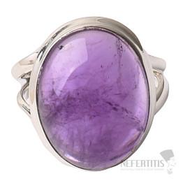 Ametyst prsten stříbro Ag 925 R1561