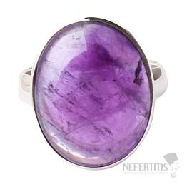 Ametyst prsten stříbro Ag 925 R1586