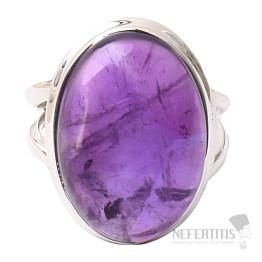 Ametyst prsten stříbro Ag 925 R1598