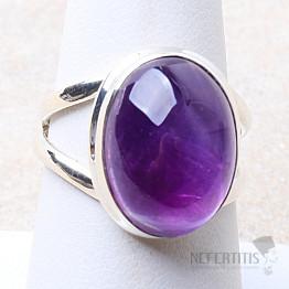 Ametyst prsten stříbro Ag 925 R1637