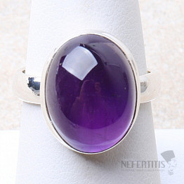 Ametyst prsten stříbro Ag 925 R1639