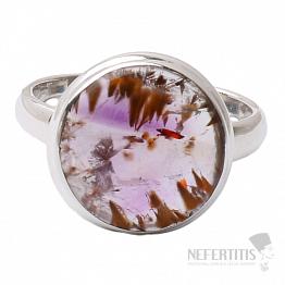 Kakoxenit Super 7 prsten stříbro  Ag 925 R1424