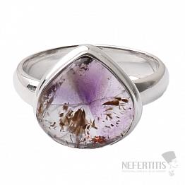 Kakoxenit Super 7 prsten stříbro  Ag 925 R1428