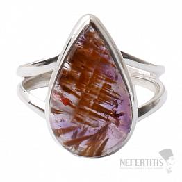 Kakoxenit Super 7 prsten stříbro  Ag 925 R1435