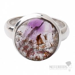 Kakoxenit Super 7 prsten stříbro  Ag 925 R1439