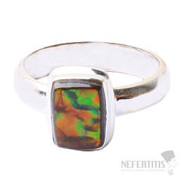 Amolit prsten stříbro Ag 925 R621