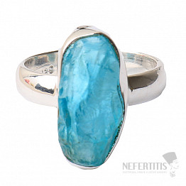 Apatit modrý neon prsten stříbro Ag 925 R58