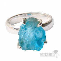 Apatit modrý neon prsten stříbro Ag 925 R120