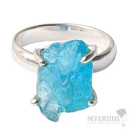 Apatit modrý neon prsten stříbro Ag 925 R108