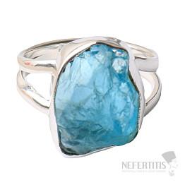 Apatit modrý neon prsten stříbro Ag 925 R59