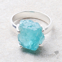Apatit modrý neon prsten stříbro Ag 925 R105