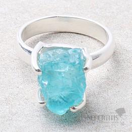 Apatit modrý neon prsten stříbro Ag 925 R119