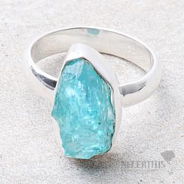 Apatit modrý neon prsten stříbro Ag 925 R51