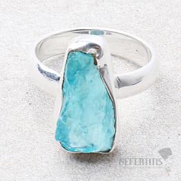 Apatit modrý neon prsten stříbro Ag 925 R71