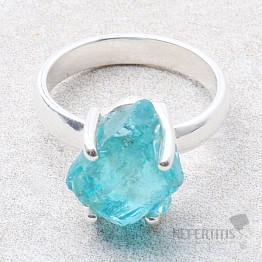 Apatit modrý neon prsten stříbro Ag 925 R97
