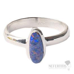 Opál australský prsten stříbro Ag 925 R1614