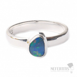 Opál australský prsten stříbro Ag 925 R1698