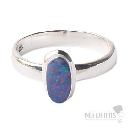 Opál australský prsten stříbro Ag 925 R1705