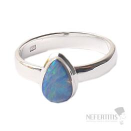 Opál australský prsten stříbro Ag 925 R1709
