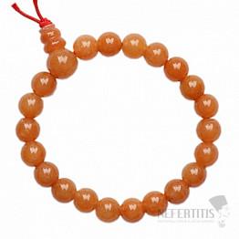 Avanturín oranžový Buddha náramek