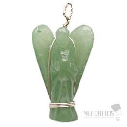 Avanturín zelený anděl přívěsek