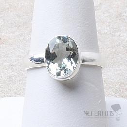 Topaz modrý prsten stříbro Ag 925 R27