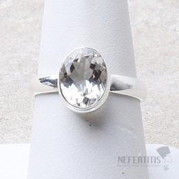 Topaz bílý prsten stříbro Ag 925 R46