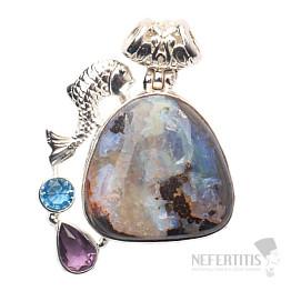 Opál boulder design přívěsek stříbro Ag 925 JW5841