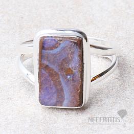 Opál boulder prsten stříbro Ag 925 R712