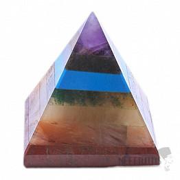 Pyramida čakrová ze sedmi polodrahokamů