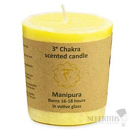 Svíčka votivní pro 3. čakru