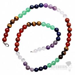 Čakrový náhrdelník  korálkový