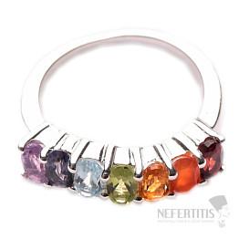 Čakrový prsten Energie přírody stříbro Ag 925