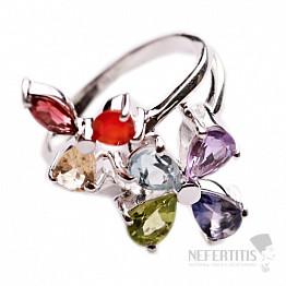 Čakrový prsten stříbro Ag 925