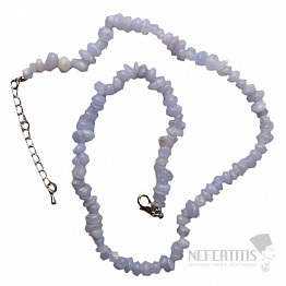 Chalcedon náhrdelník sekaný A kvalita