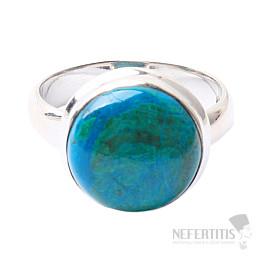 Chryzokol prsten stříbro Ag 925 R155