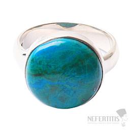 Chryzokol prsten stříbro Ag 925 R159