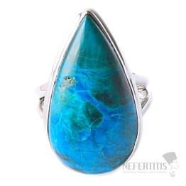 Chryzokol prsten stříbro Ag 925 R106