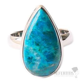 Chryzokol prsten stříbro Ag 925 R138