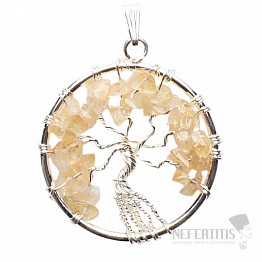 Citrín přívěsek Strom života