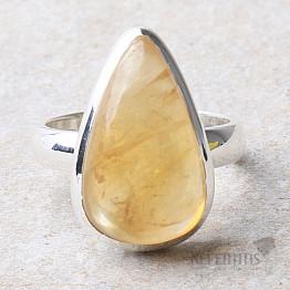 Citrín prsten stříbro Ag 925 R494