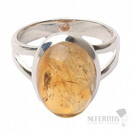 Citrín prsten stříbro Ag 925 R454