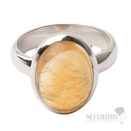 Citrín prsten stříbro Ag 925 R463